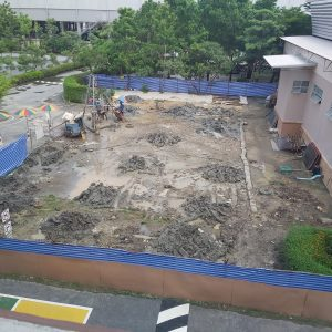 Swimming Pool Construction Begins